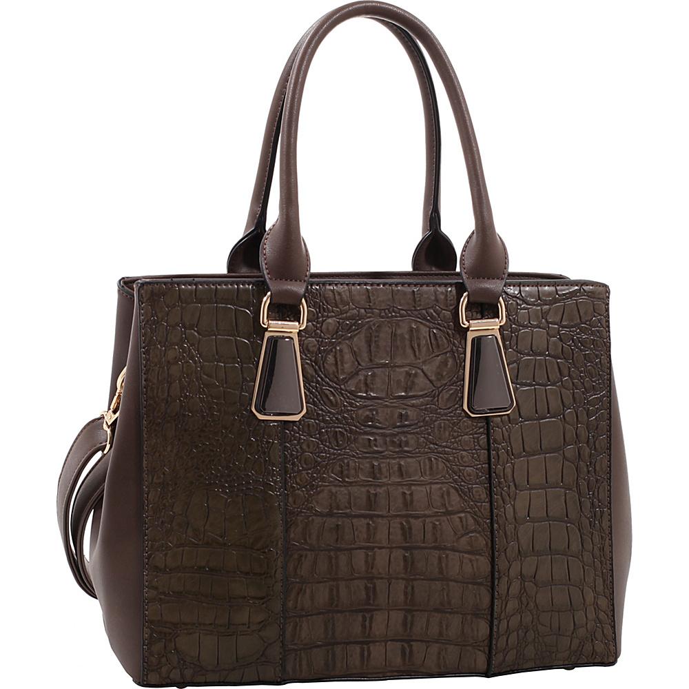 MKF Collection Willow Crocodile Leather Tote Dark Grey - MKF Collection Manmade Handbags - Handbags, Manmade Handbags