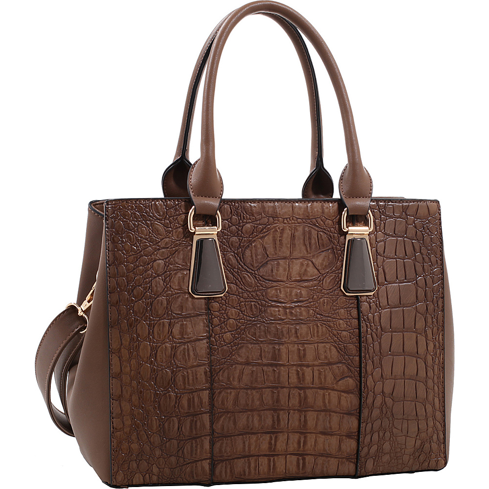 MKF Collection Willow Crocodile Leather Tote Khaki - MKF Collection Manmade Handbags - Handbags, Manmade Handbags