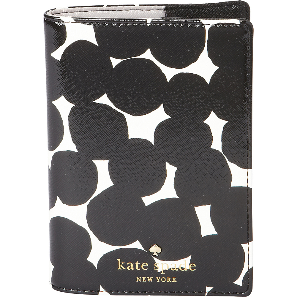 kate spade new york Cedar Street Blot Dot Passport Holder Black kate spade new york Travel Wallets