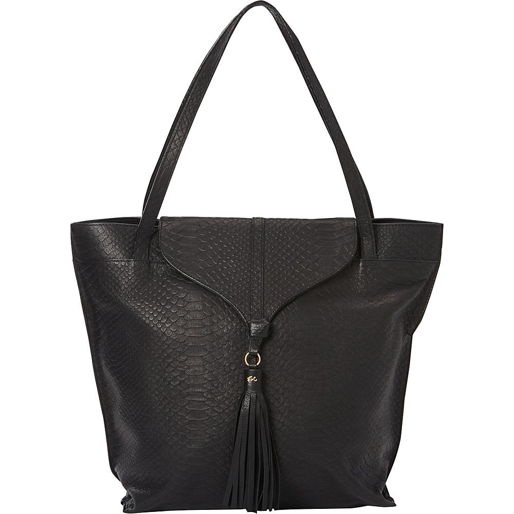 Foley Corinna Arrow Tote Embossed Snake Black Embossed Snake Foley Corinna Designer Handbags