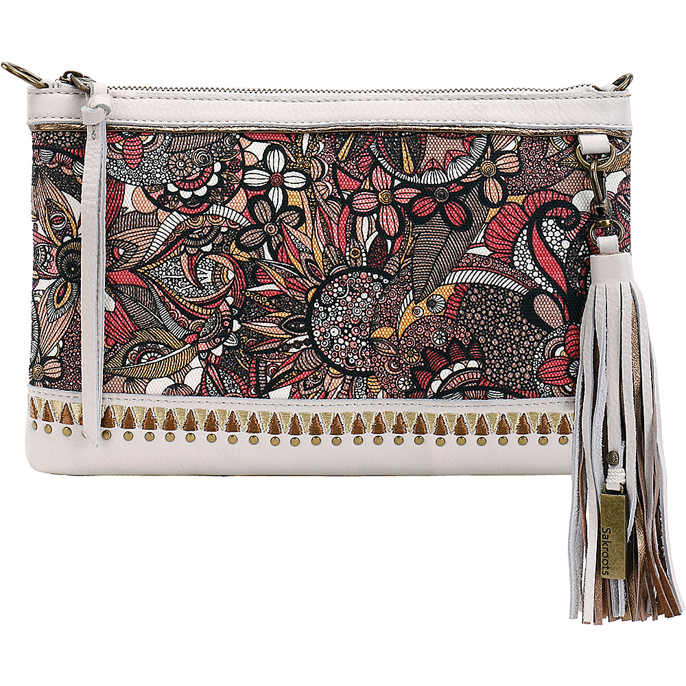 Sakroots Seni Leather Clutch Ruby Spirit Desert - Sakroots Leather Handbags - Handbags, Leather Handbags