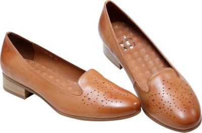 Vicenzo Footwear Karah Perforated Womens Leather Flat 9 - Brown - Vicenzo Footwear Women's Footwear