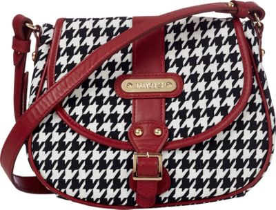 Davey's Crossbody Saddlebag Houndstooth - Davey's Fabric Handbags