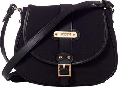 Davey's Crossbody Saddlebag Black - Davey's Fabric Handbags