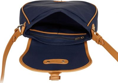 Davey's Crossbody Saddlebag Navy - Davey's Fabric Handbags