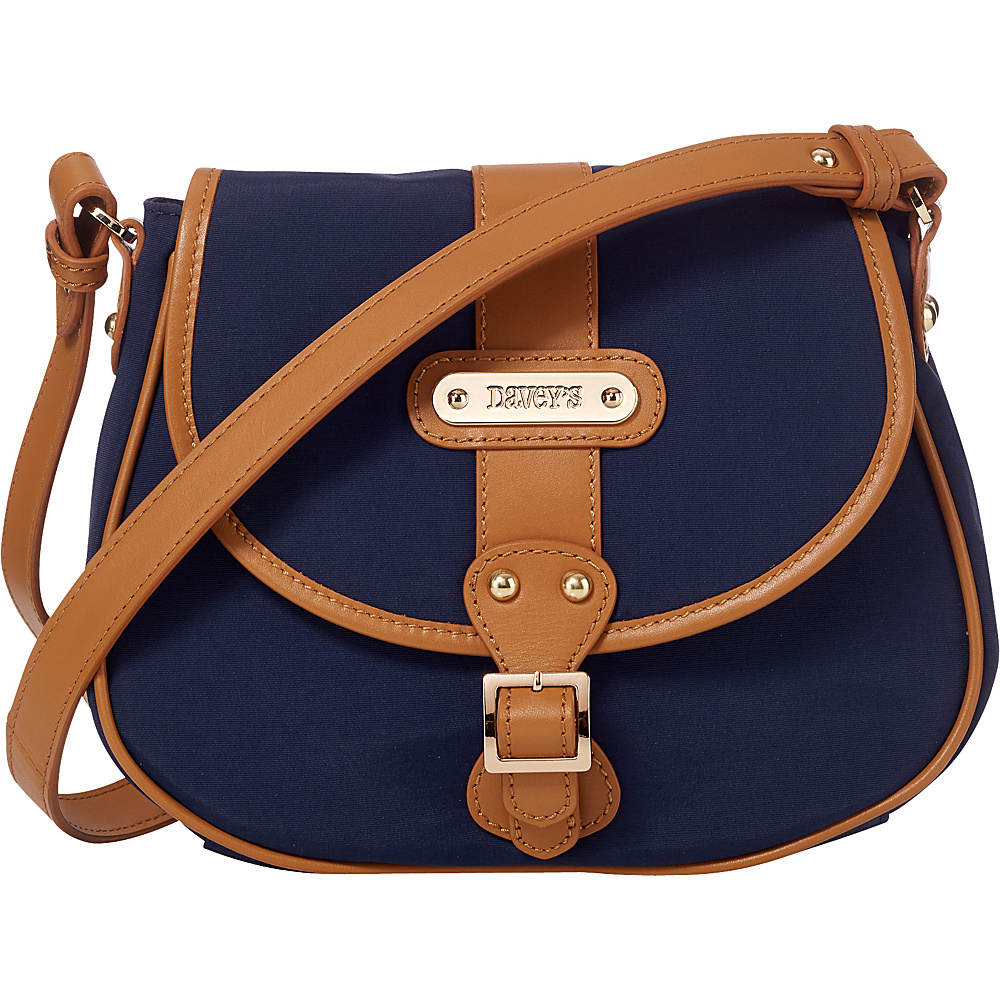 Davey s Crossbody Saddlebag Navy Davey s Fabric Handbags