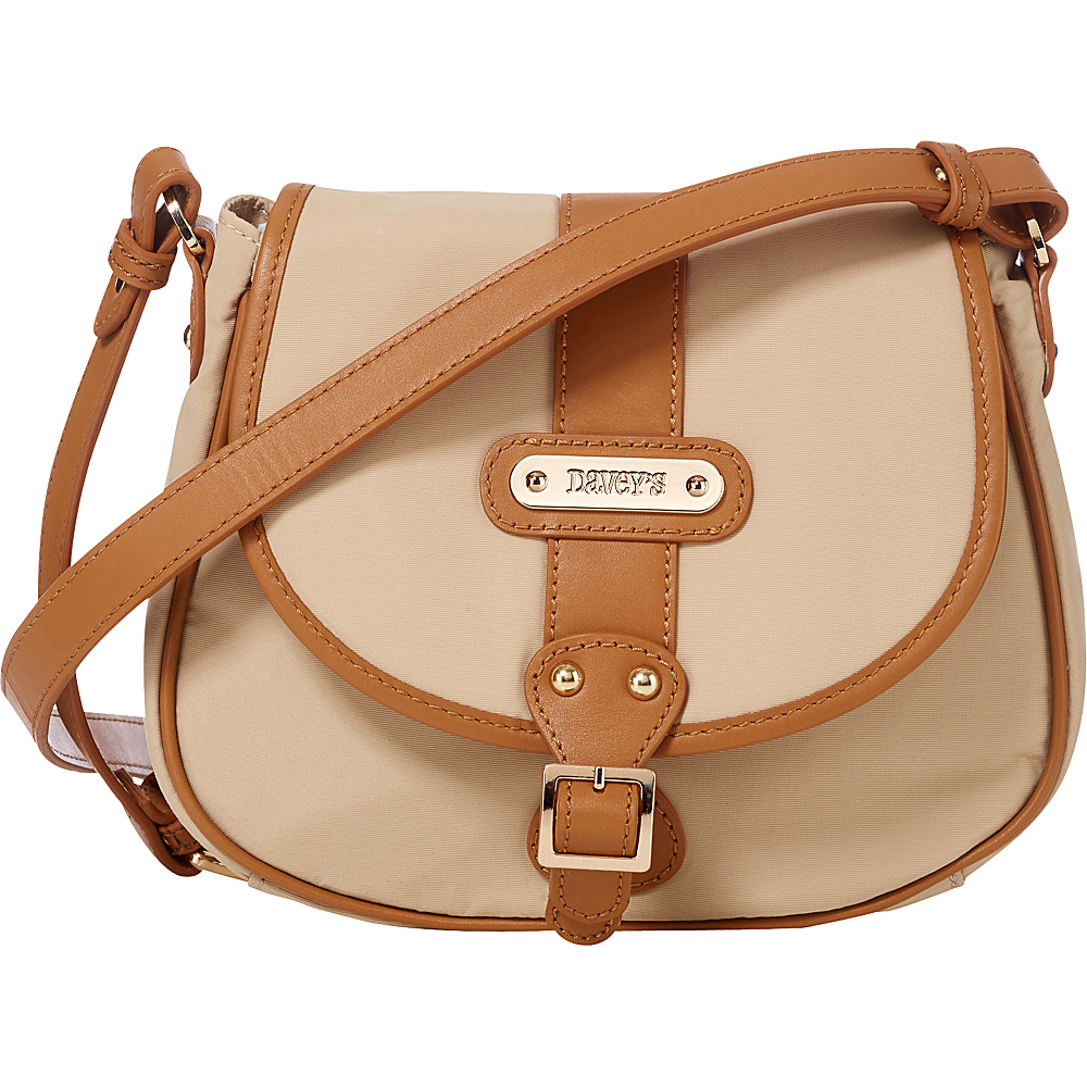 Davey s Crossbody Saddlebag Khaki Davey s Fabric Handbags