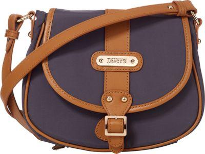 Davey's Crossbody Saddlebag Grey - Davey's Fabric Handbags