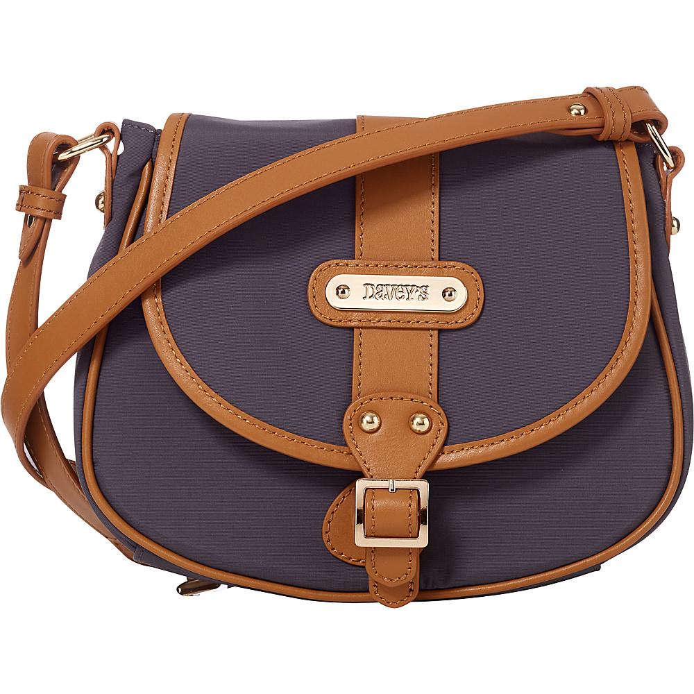 Davey s Crossbody Saddlebag Grey Davey s Fabric Handbags