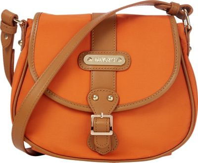 Davey's Crossbody Saddlebag Burnt Orange - Davey's Fabric Handbags
