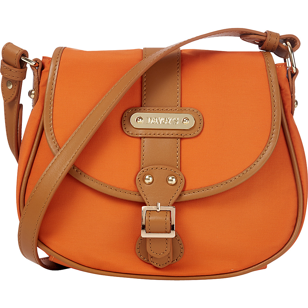 Davey s Crossbody Saddlebag Burnt Orange Davey s Fabric Handbags