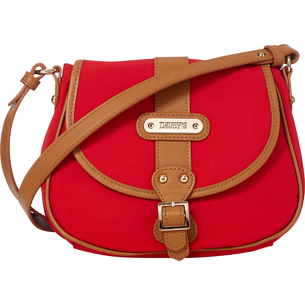 Davey s Crossbody Saddlebag Red Davey s Fabric Handbags