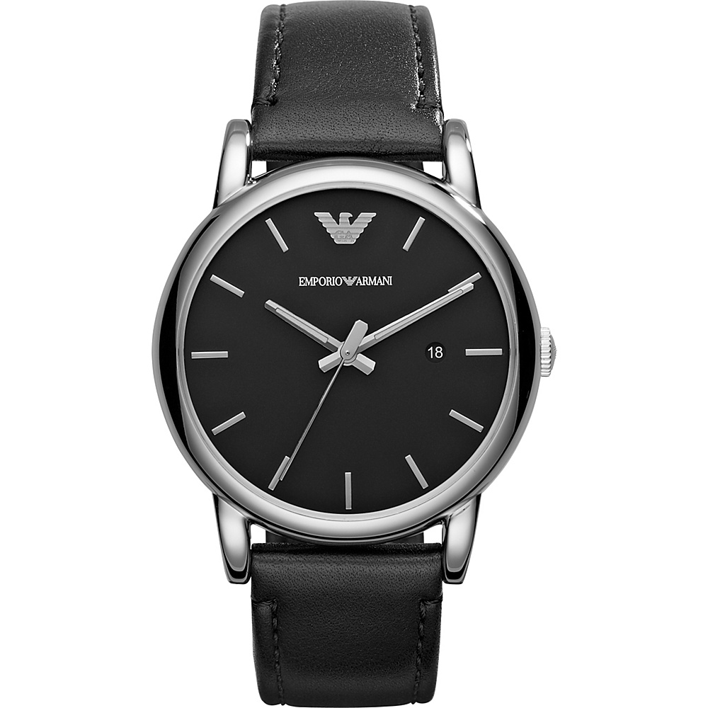 Emporio Armani Classic Watch Black Black Emporio Armani Watches