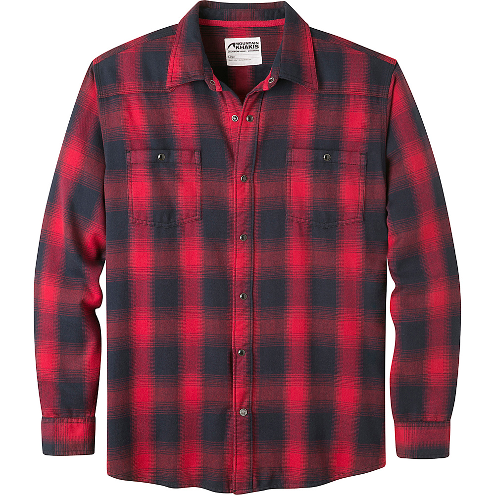 Mountain Khakis Saloon Flannel Shirt M - Cardinal - Mountain Khakis Mens Apparel - Apparel & Footwear, Men's Apparel