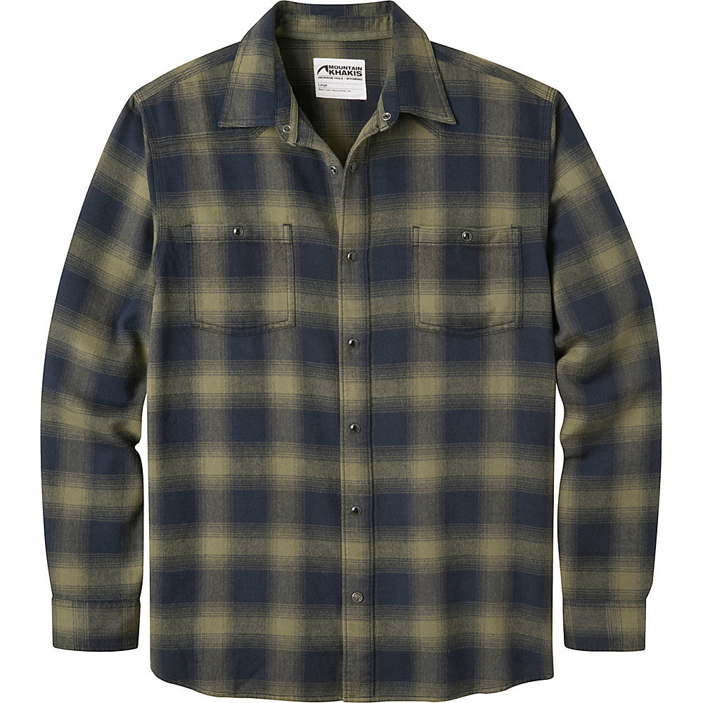 Mountain Khakis Saloon Flannel Shirt S - Field Green - Mountain Khakis Mens Apparel - Apparel & Footwear, Men's Apparel