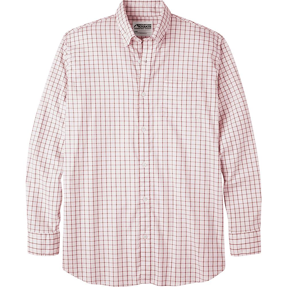 Mountain Khakis Davidson Stretch Oxford Shirt S - Rojo Check - Mountain Khakis Mens Apparel - Apparel & Footwear, Men's Apparel
