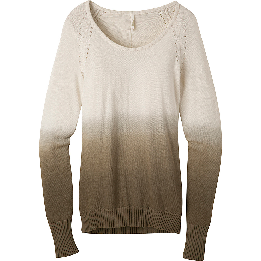 Mountain Khakis Darby Dip Dyed Sweater S - Cream - Mountain Khakis Womens Apparel - Apparel & Footwear, Women's Apparel
