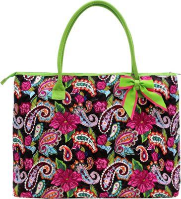 Rosenblue Candice Tote Multi/Lime - Rosenblue Fabric Handbags