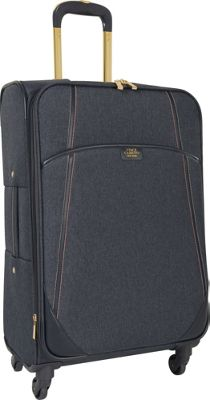Vince Camuto Luggage Avrilly 24 inch Expandable Spinner Night shadow blue - Vince Camuto Luggage Softside Checked