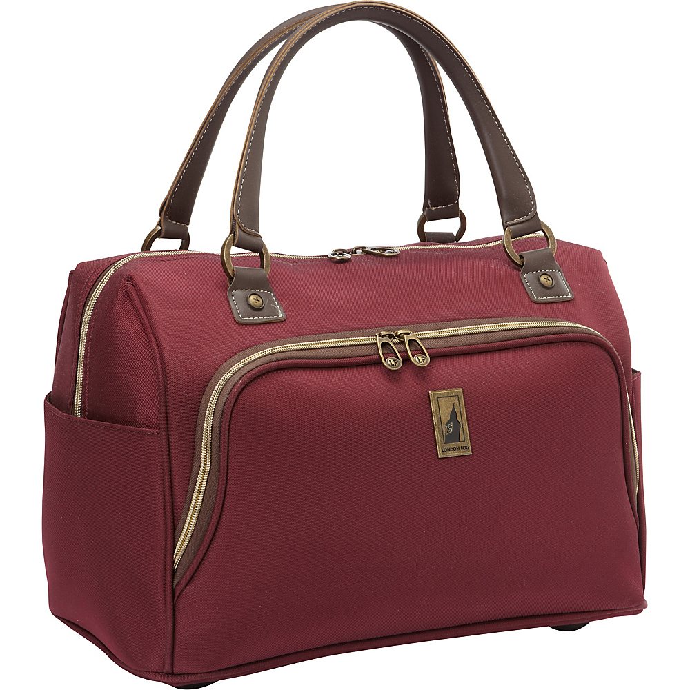 London Fog Coventry Hyperlights 17 Cabin Bag Plum London Fog Luggage Totes and Satchels