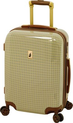London Fog Cambridge 21 inch Expandable Hardside Spinner Carry On Olive Plaid - London Fog Softside Carry-On