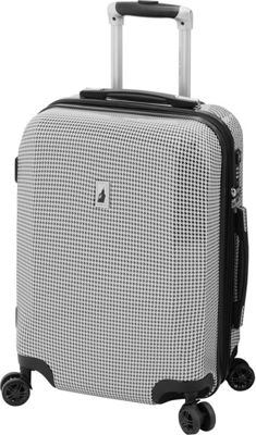 London Fog Cambridge 21 inch Expandable Hardside Spinner Carry On Black & White Houndstooth - London Fog Softside Carry-On