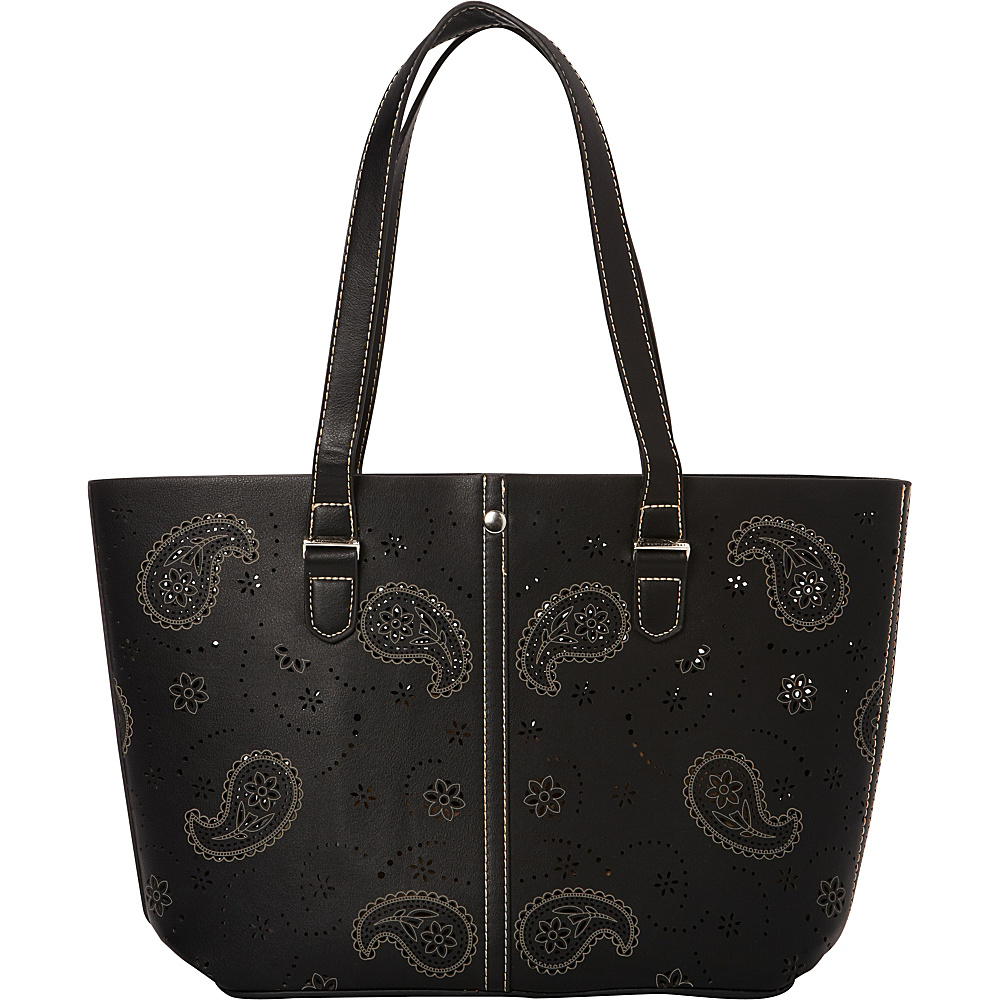 Montana West Paisley Collection Handbag Black Montana West Manmade Handbags