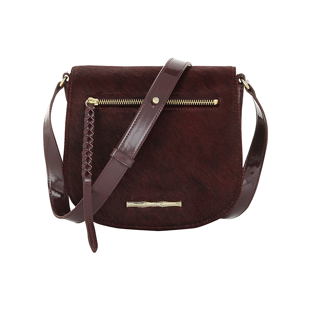 Elaine Turner Cam Crossbody Burgundy Haircalf Elaine Turner Designer Handbags