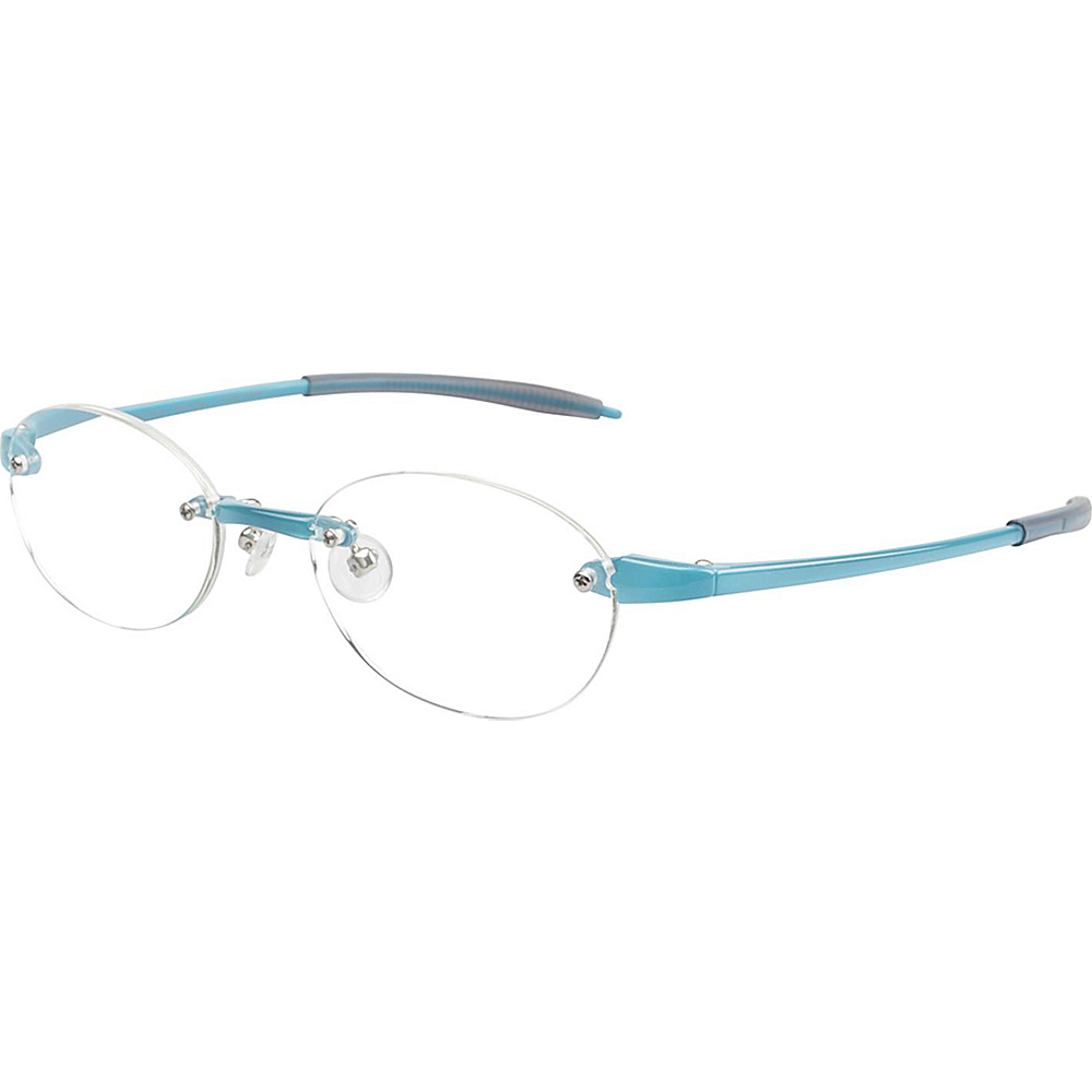 Visualites Round Reading Glasses 1.25 Turquoise Visualites Sunglasses
