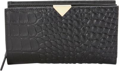 Vince Camuto Zinia Wallet Black Croco - Vince Camuto Women's Wallets