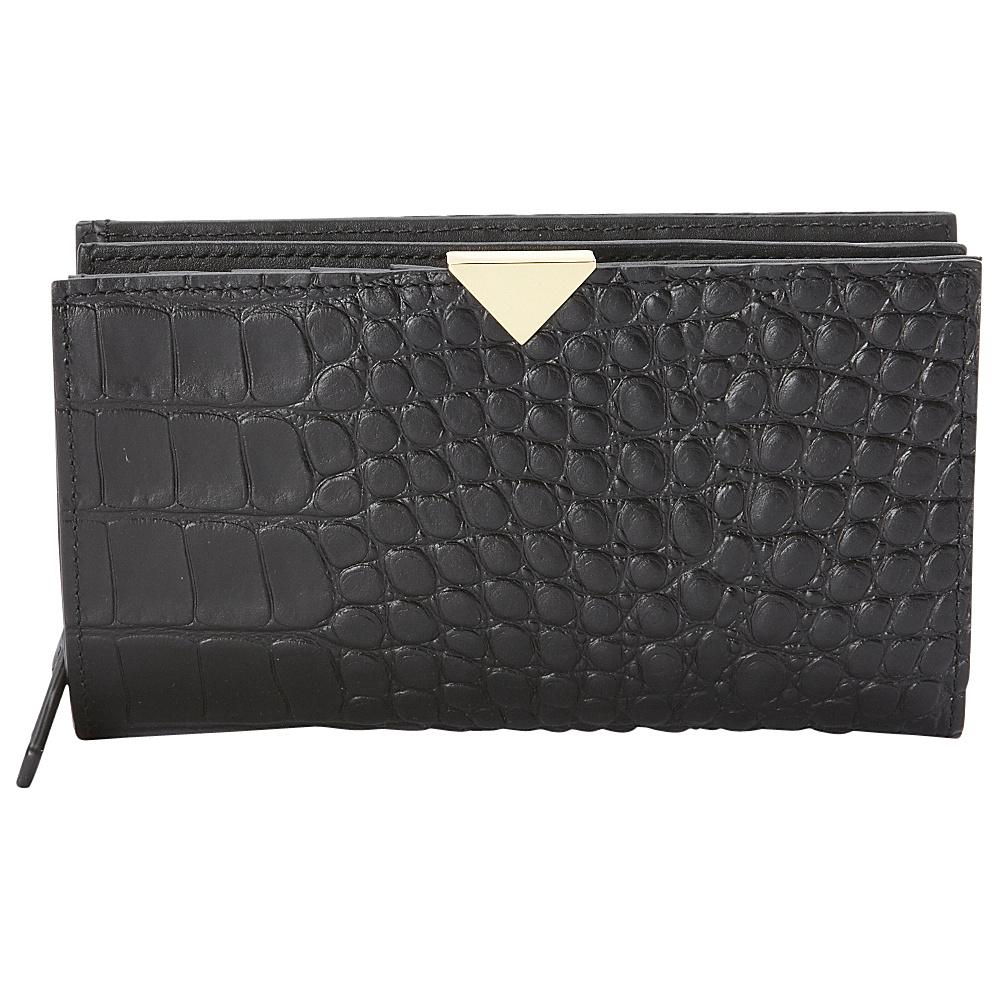 Vince Camuto Zinia Wallet Black Croco Vince Camuto Women s Wallets
