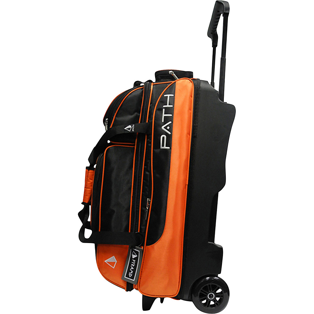 Pyramid Path Triple Deluxe Roller Bowling Bag Orange Pyramid Ski and Snowboard Bags