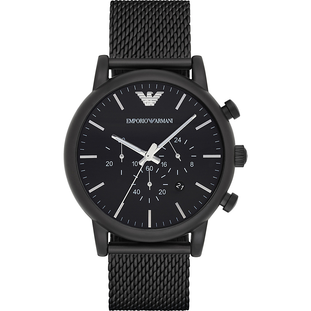 Emporio Armani Sport Watch Black Black Mesh Emporio Armani Watches