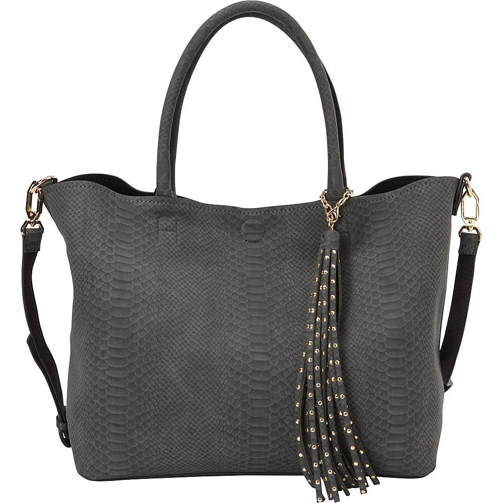 deux lux Juniper Tote Charcoal deux lux Manmade Handbags