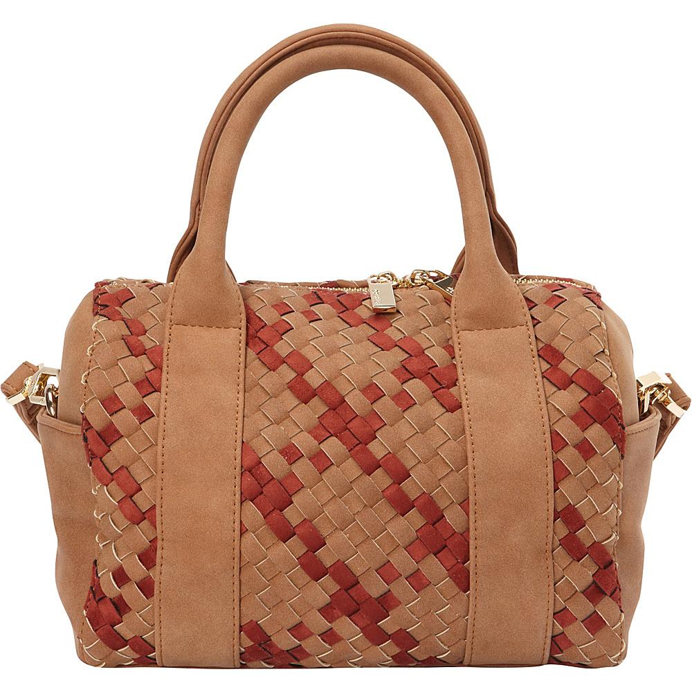 deux lux Delaney Mini Duffle Cognac deux lux Manmade Handbags