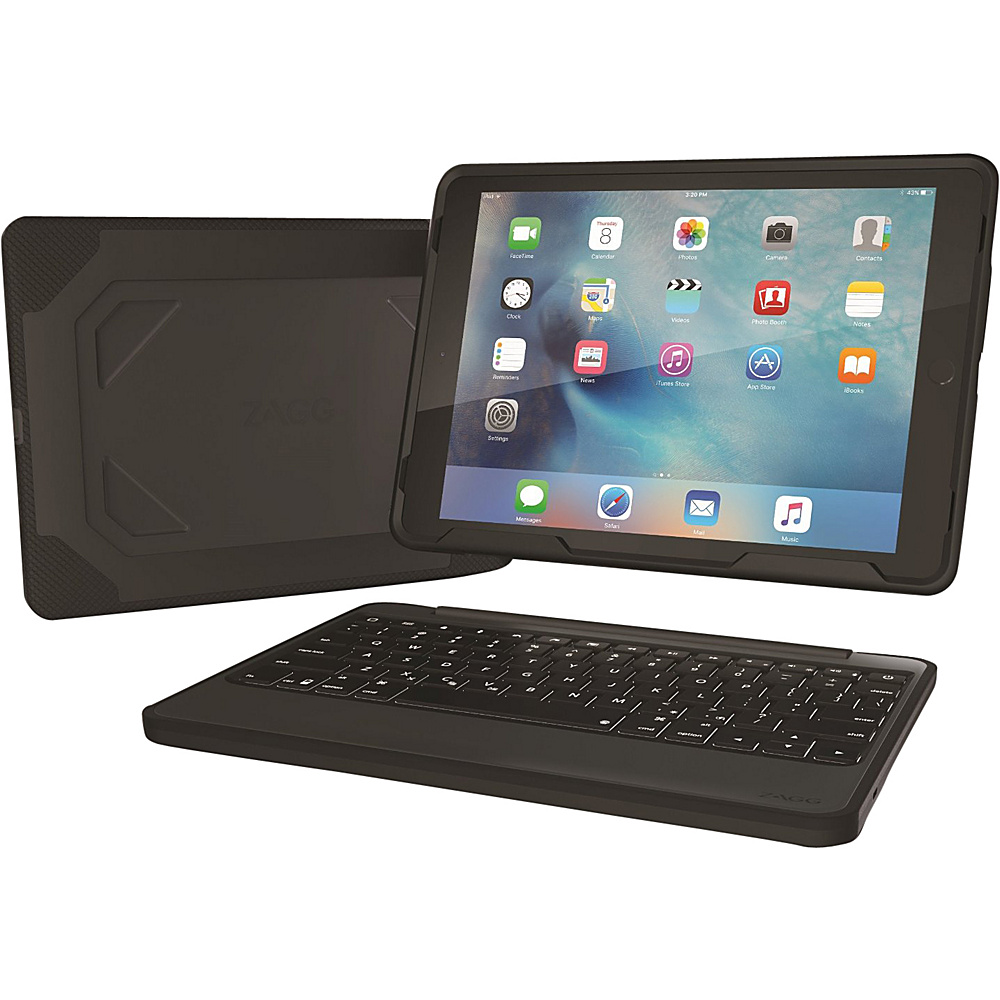 Zagg Rugged Durable Hinged Backlit Keyboard for iPad Pro 9.7 Black Zagg Electronic Cases