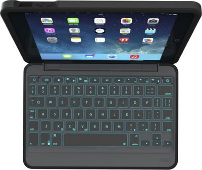 Zagg Rugged Durable Hinged Keyboard Case for iPad Mini 4 Black - Zagg Electronic Cases