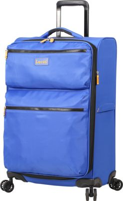 LUCAS Ultra Light Weight Originals 24 inch Exp Spinner Blue - LUCAS Softside Checked