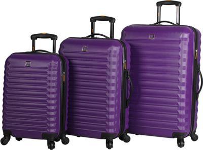 LUCAS Treadlite 3pc Spinner Luggage Set Purple - LUCAS Softside Checked