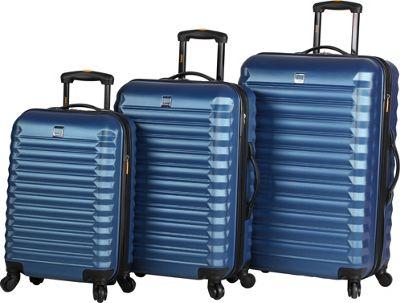 LUCAS Treadlite 3pc Spinner Luggage Set Blue - LUCAS Softside Checked