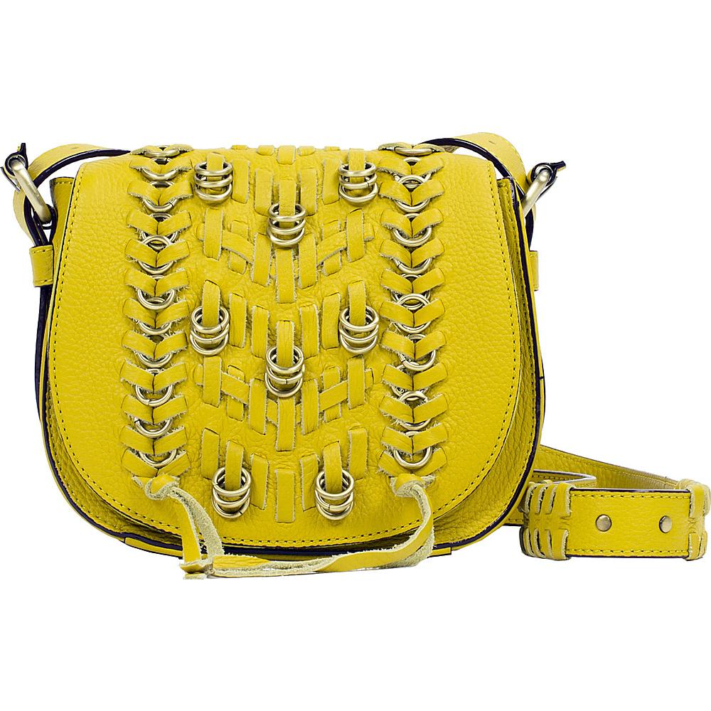 Sanctuary Handbags Hendrix Little Saddle Acid Gold Sanctuary Handbags Designer Handbags