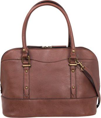 Emilie M Emma Dome Satchel Nutmeg - Emilie M Manmade Handbags