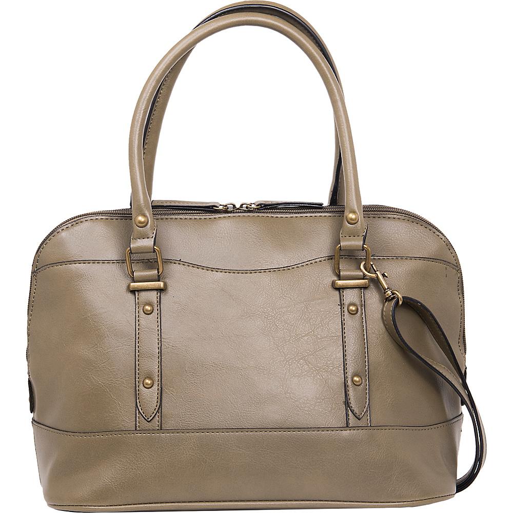 Emilie M Emma Dome Satchel Olive Emilie M Manmade Handbags
