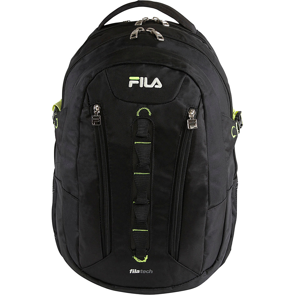 Fila Vertex Tablet and Laptop Backpack Black Fila Everyday Backpacks