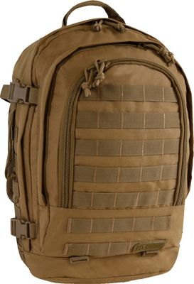 Highland Tactical Rumble Heavy Duty Tactical Backpack Desert - Highland Tactical Day Hiking Backpacks