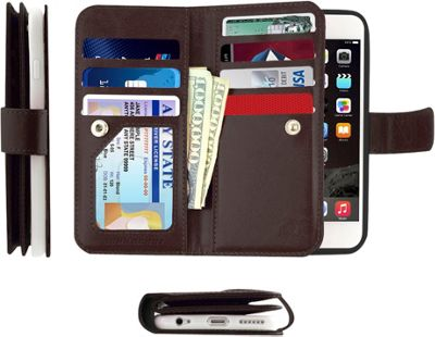 Gear Beast Dual-Folio Wallet iPhone 6 Case Brown - iPhone 6 - Gear Beast Electronic Cases