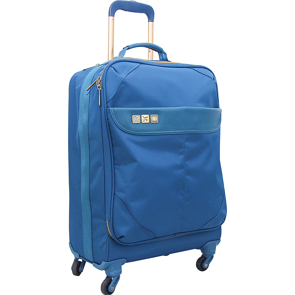 Flight 001 19 Avionette Carry On Spinner Blue Flight 001 Softside Carry On