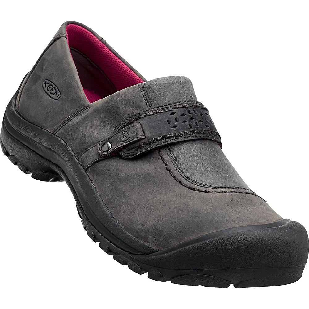 KEEN Womens Kaci Full-Grain Slip-On 5.5 - Magnet - KEEN Womens Footwear - Apparel & Footwear, Women's Footwear