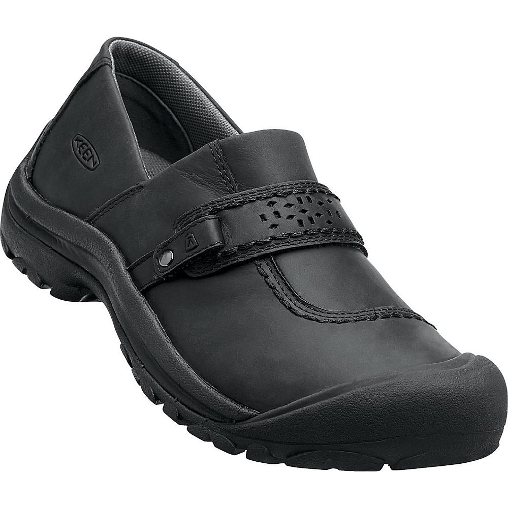 KEEN Womens Kaci Full-Grain Slip-On 5.5 - Black - KEEN Womens Footwear - Apparel & Footwear, Women's Footwear