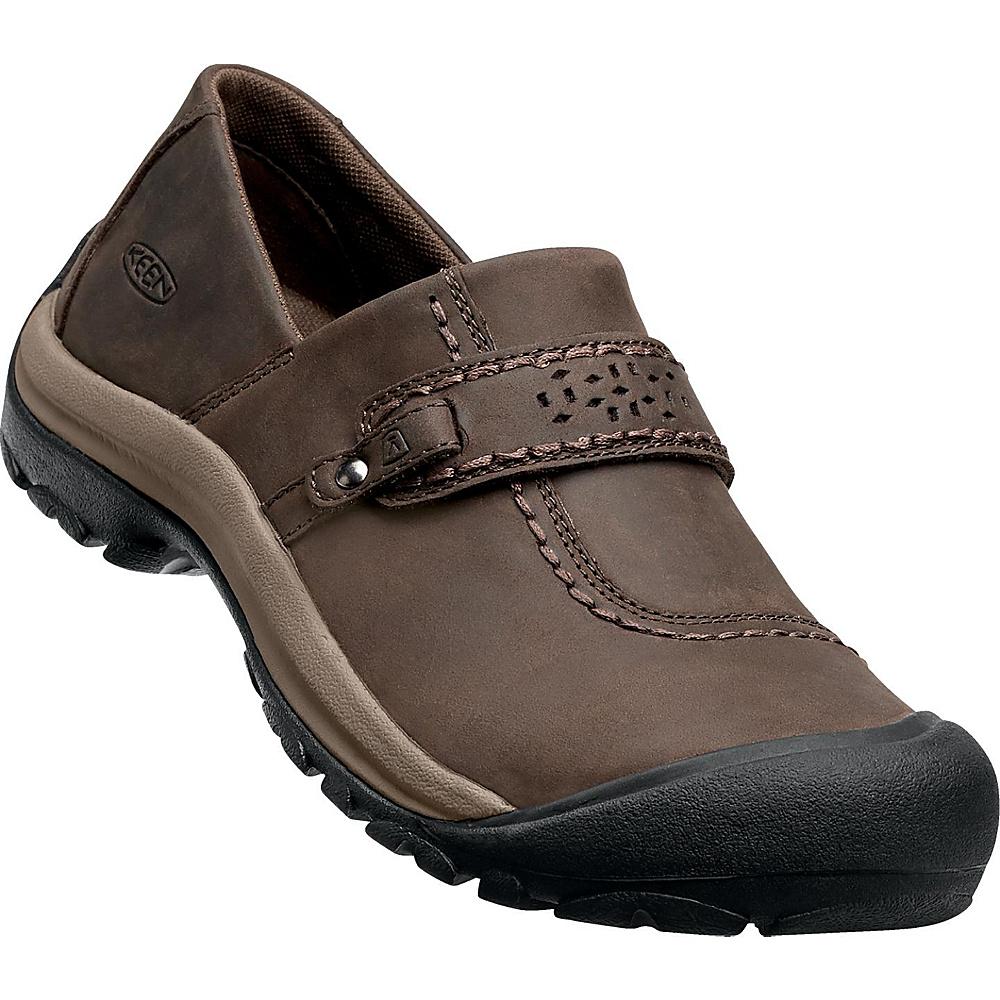KEEN Womens Kaci Full-Grain Slip-On 9 - Cascade Brown - KEEN Womens Footwear - Apparel & Footwear, Women's Footwear